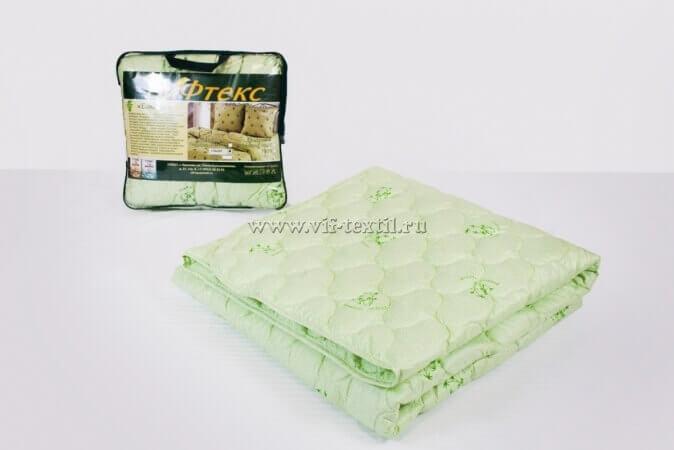 Одеяло бамбук 1.5сп, 300 г/м², поплекс зеленая ветка