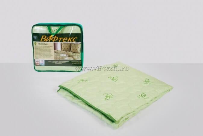 Одеяло бамбук 2сп, 150 г/м², поплекс зеленая ветка