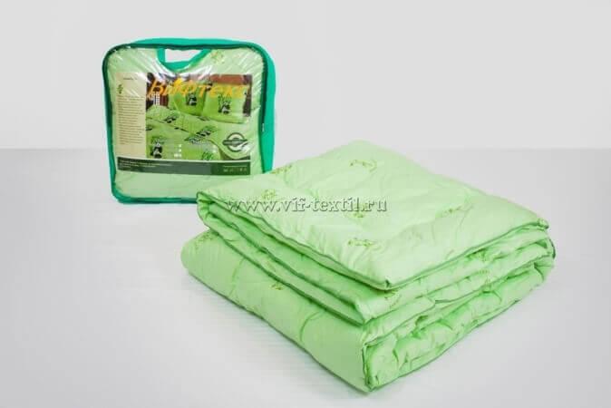 Одеяло бамбук 1.5сп Зима, 400 г/м², тик