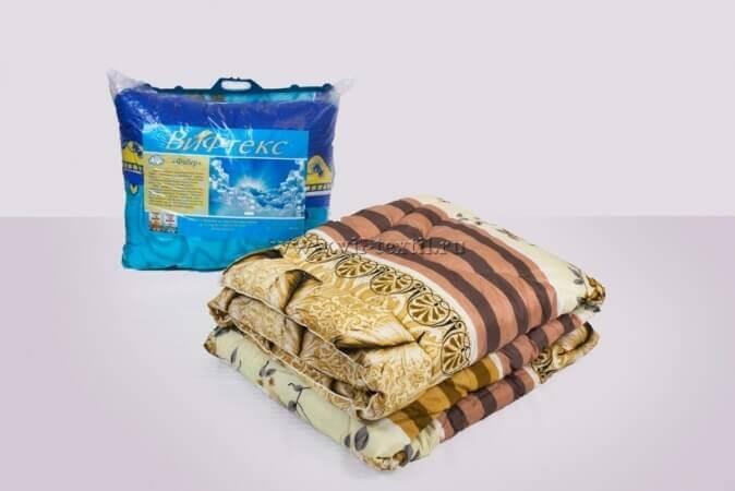 Одеяло  фибер 1.5сп (пакет с ручкой) Зима, полиэстер, 400 г/м²
