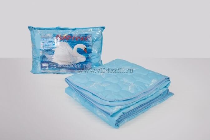 Одеяло лебяжий пух 2сп, 150 г/м², полиэстер