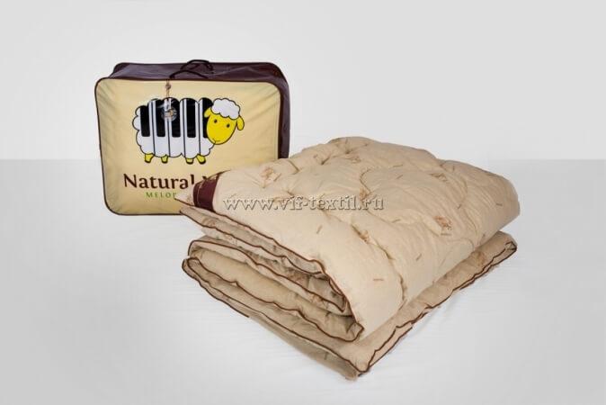Одеяло овечья шерсть 2сп, поплин, 450 г/м², Зима