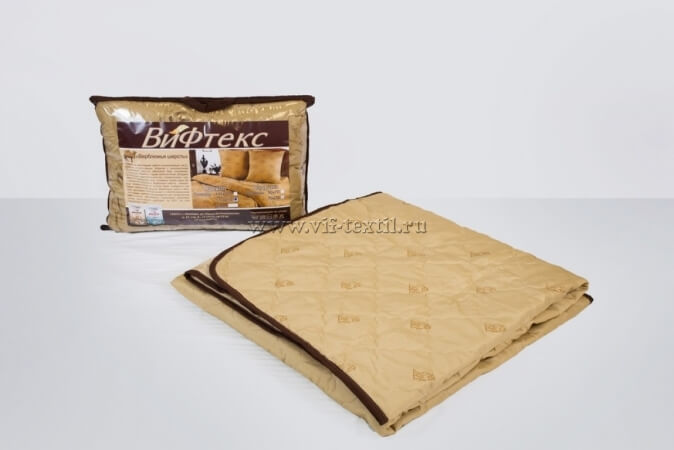 Одеяло верблюжья шерсть 1.5сп, 150 г/м², полиэстер