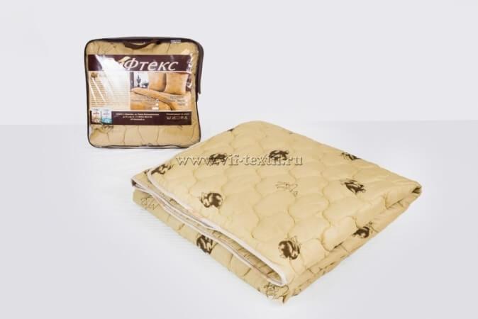 Одеяло верблюжья шерсть 1.5сп, 300 г/м², полиэстер
