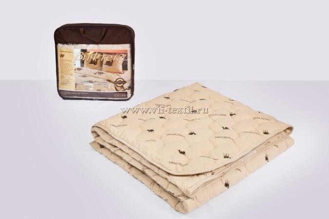 Одеяло верблюжья шерсть 2сп, 300 г/м², тик