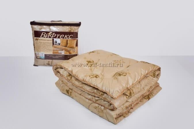 Одеяло верблюжья шерсть 1.5сп Зима, 400 г/м², поплекс