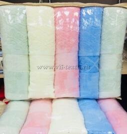 Набор полотенец  6 шт. махровые 70*140 ПЦ-8