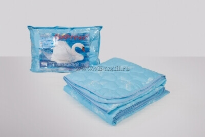 Одеяло лебяжий пух 1.5сп, 150 г/м², полиэстер