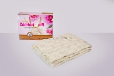 Одеяло лебяжий пух 1.5сп, 300 г/м², тик смесовая (коробка)
