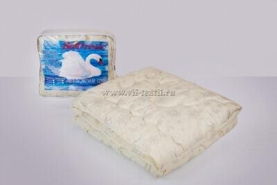 Одеяло лебяжий пух 1.5сп Зима, 400 г/м², тик смесовая