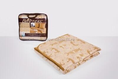 Одеяло верблюжья шерсть 2сп, 150 г/м², поплекс