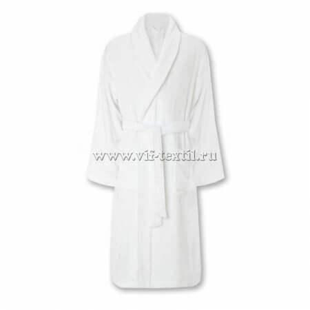 Махровый халат (мужской) цвет белый