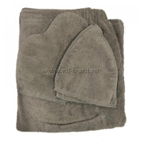 Набор махровый для сауны (мужской) серый