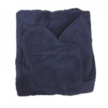 Набор махровый для сауны (мужской) темно-синий