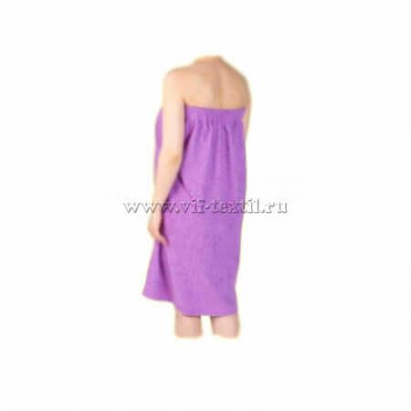 Набор махровый для сауны (женский) фиолетового цвета