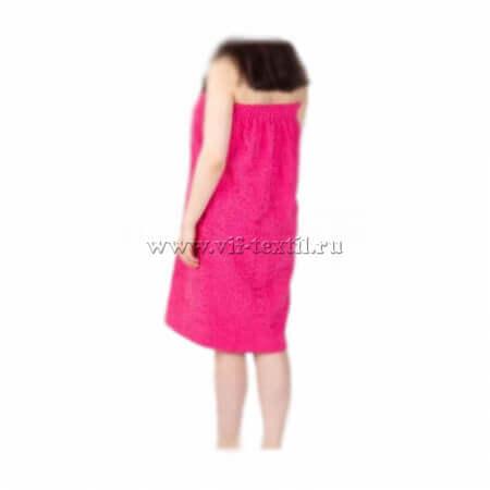 Набор махровый для сауны (женский) малинового цвета