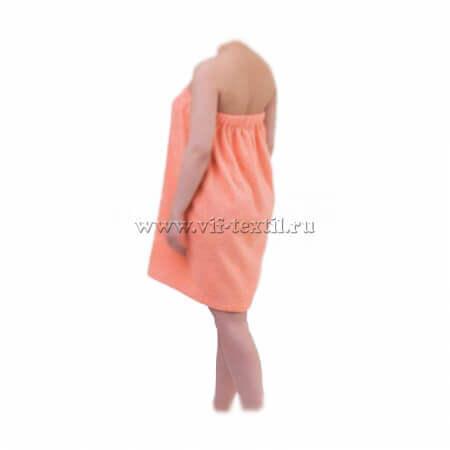 Набор махровый для сауны (женский) персикового цвета