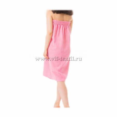 Набор махровый для сауны (женский) розового цвета