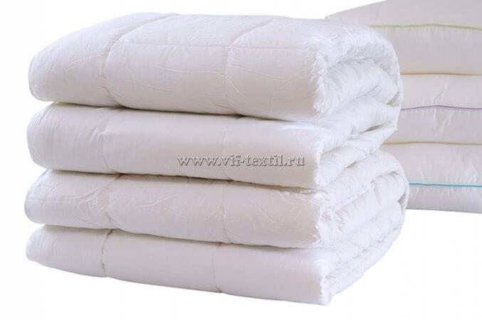 """Одеяло холлофайбер-пласт 300 г/м², сатин """"Элит"""" ОПХ-16"""