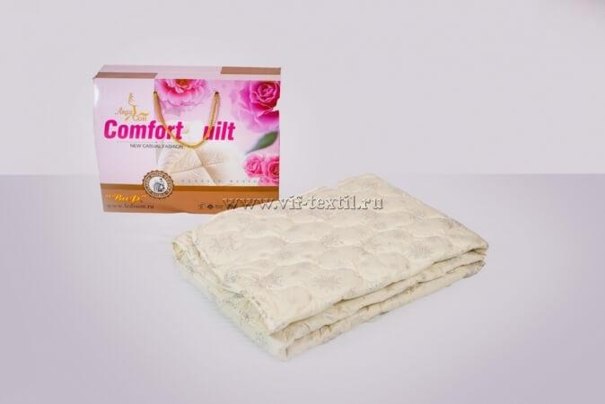 Одеяло лебяжий пух 2сп, 300 г/м², тик смесовая (коробка)