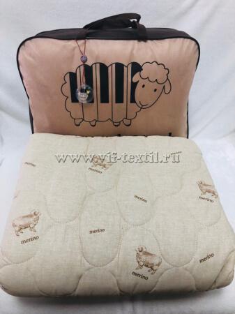 """Одеяло """"Овечья шерсть"""", поплин, 300 г/м², облегченное"""