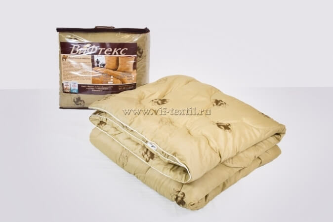 Одеяло верблюжья шерсть Зима, 400 г/м², полиэстер