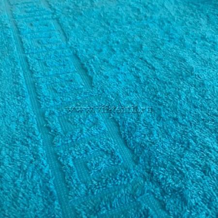 Полотенце махровое бирюза (blue atoll) Туркменистан 0802028