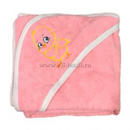 Детский махровый уголок (розовый)