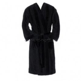 Махровый халат (мужской) цвет черный