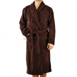 Махровый халат (мужской) цвет коричневый