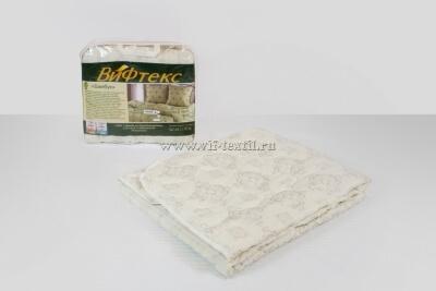 Одеяло бамбук евро, 300 г/м², поплекс бежевый