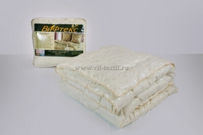 Одеяло бамбук Зима, 400 г/м², поплекс бежевый