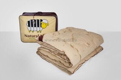 Одеяло овечья шерсть 1.5сп, поплин, 450 г/м², Зима