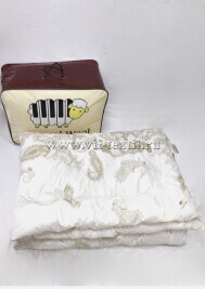 Одеяло овечья шерсть, глоссатин, 450 г/м², Зима