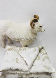 """Одеяло """"Овечья шерсть"""", глоссатин, 450 г/м², Зима"""