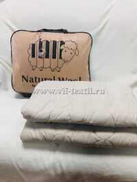 Одеяло овечья шерсть, тик, 300 г/м², облегченное