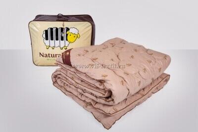 Одеяло овечья шерсть 1.5сп, тик барашек, 450 г/м², Зима
