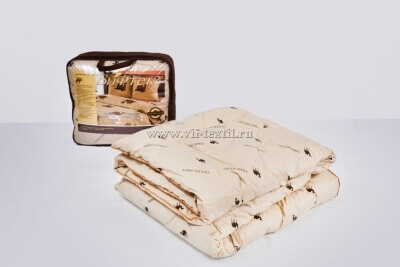 Одеяло верблюжья шерсть 2сп Зима, 400 г/м², тик