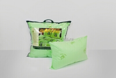 Подушка  бамбуковое волокно 2х камерная(на молнии), тик