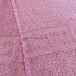 Полотенце махровое розовое Узбекистан (Узтекс)