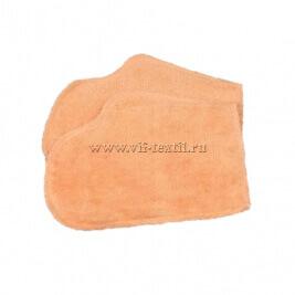 Рукавица махровая (набор 2 шт.) цвет персик