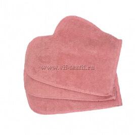 Рукавица махровая (набор 2 шт.) цвет розовый